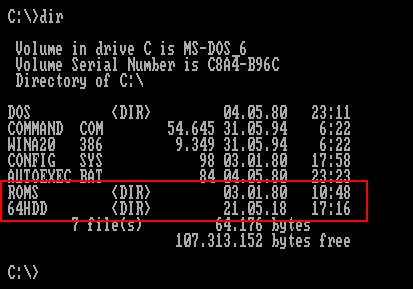 DOS 64HDD
