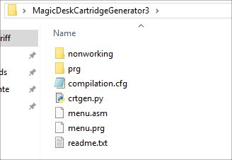 Magic Desk Cartridge Generator
