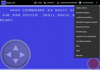 MobileC64 Options