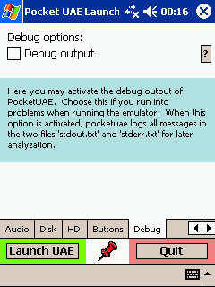 PocketUAE Debugger