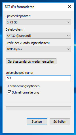Format Windows